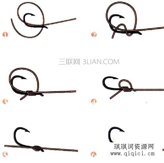 鱼钩的绑法图解,绑鱼钩的方法图解,鱼钩的绑法图解大全