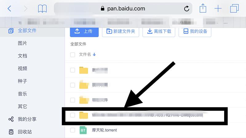 百度云网盘iOS版把bt种子打开的具体操作